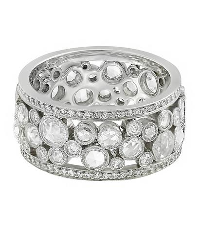 Кольцо Tiffany & Co Cobblestone из платины 950 пробы с бриллиантами