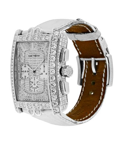 Часы Harry Winston Avenue из белого золота с бриллиантами