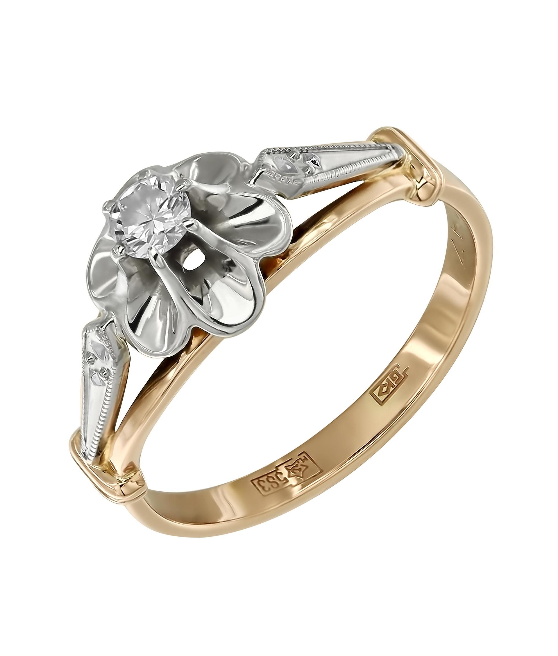 кольцо с бриллиантами тюльпан фото своим