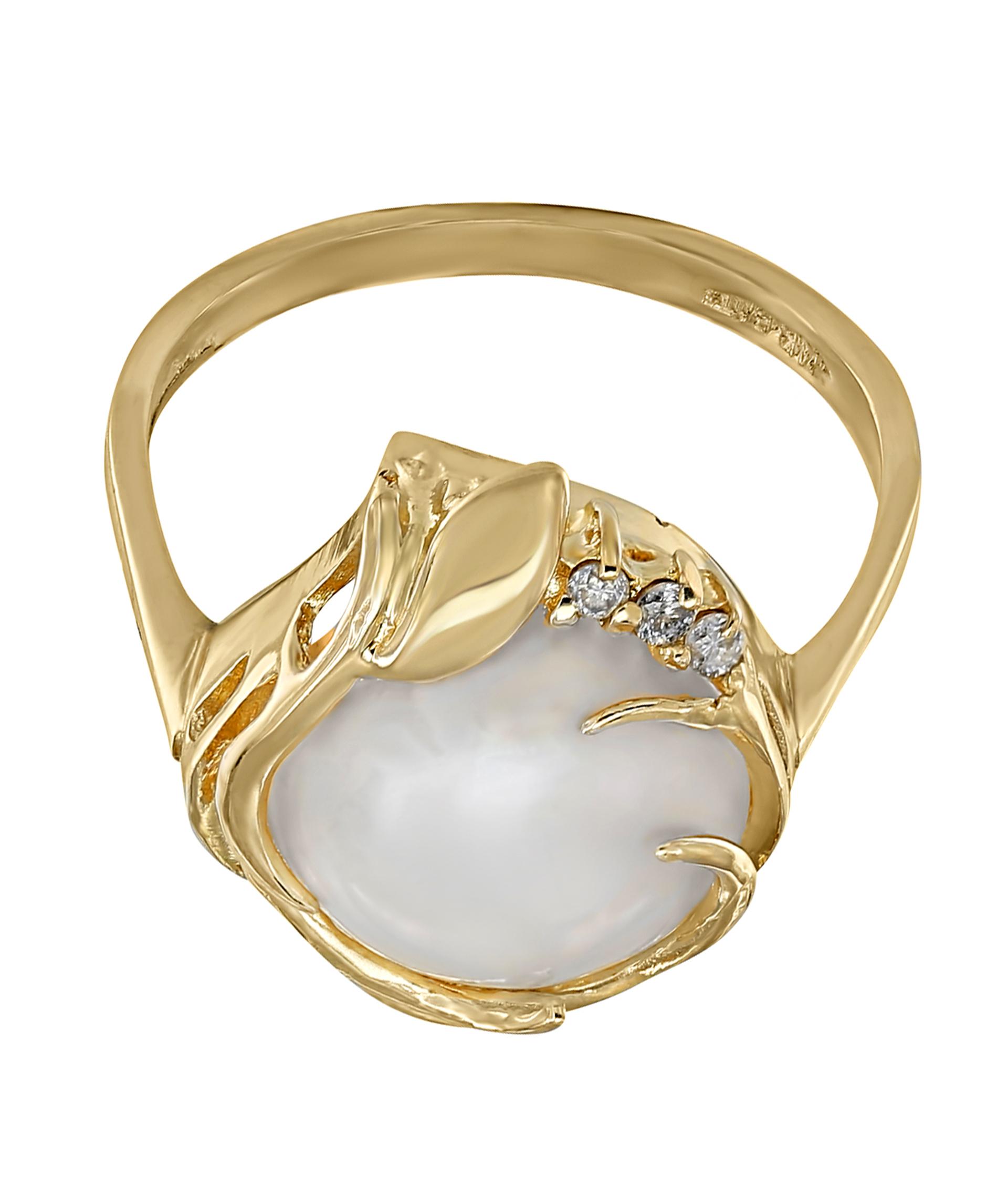 Кольца с жемчугом золото каталог